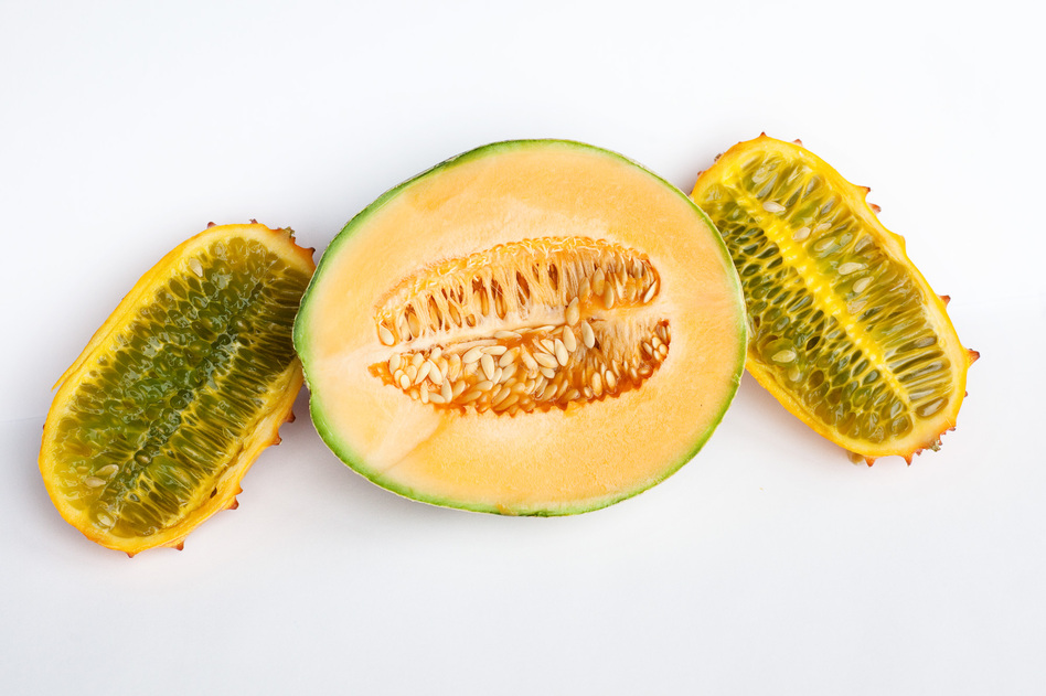 Seeds of fear? To most of us, this cantaloupe and horn melon look like a healthy breakfast or snack. (NPR)