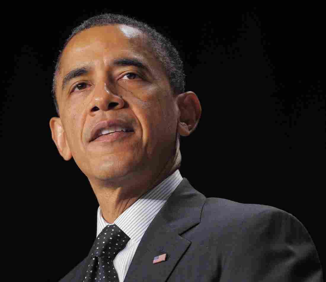 President Obama speaking at the National Prayer Breakfast in Washington, D.C., on Thursday.