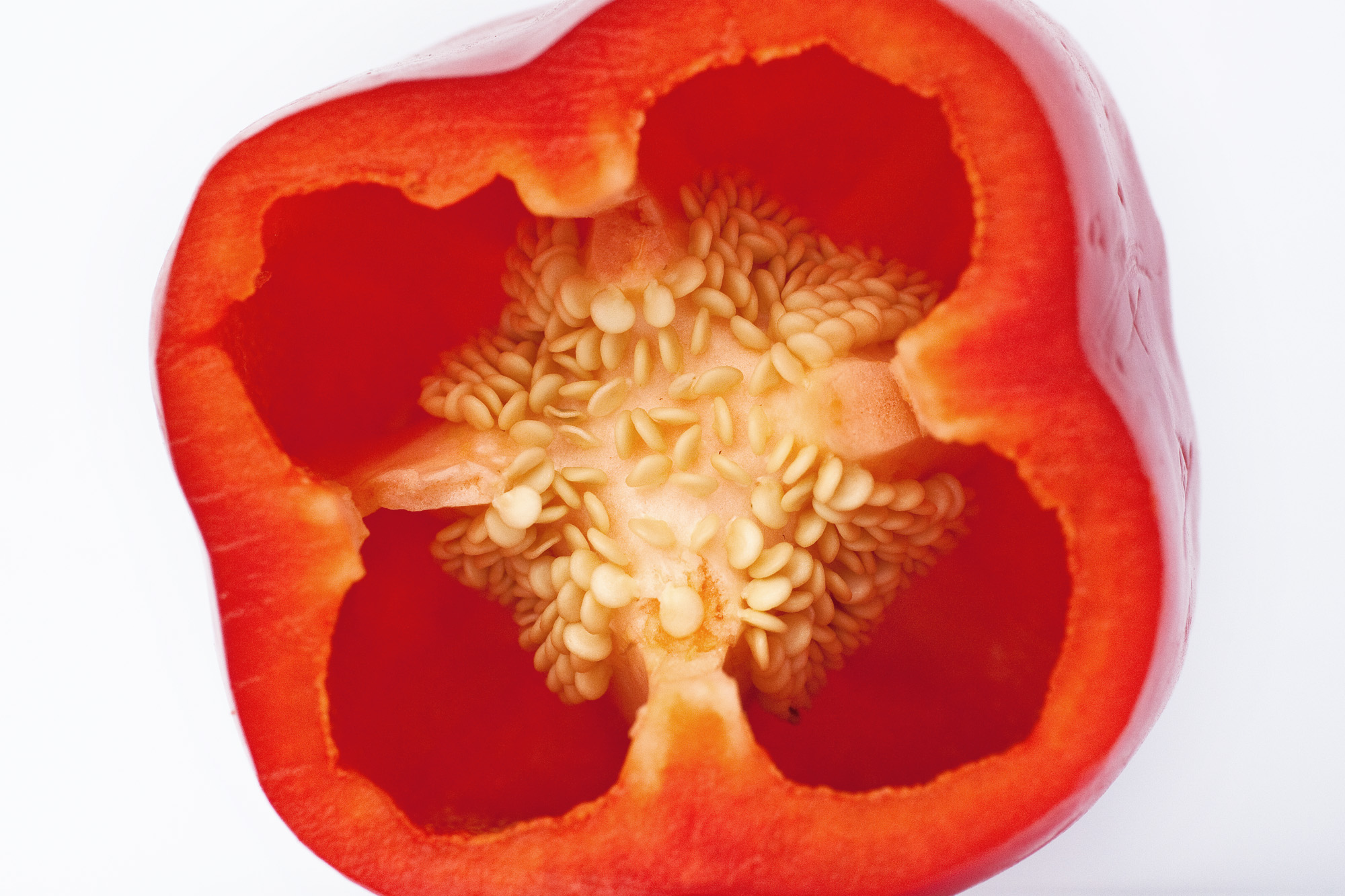"One person on Reddit posted a picture of a sliced bell pepper with the comment, ""I love bell peppers, but man this gets me every time."""