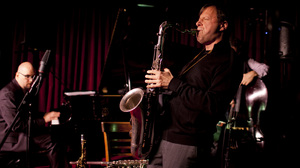 Chris Potter (center) performs live at the Village Vanguard.