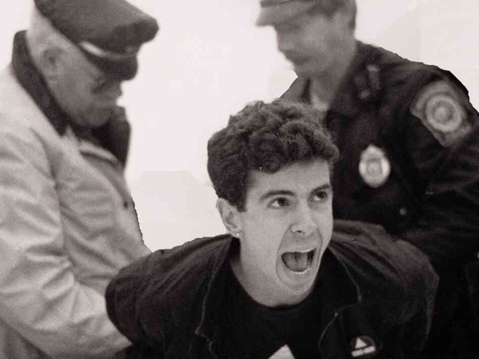 Director and producer David France chronicles the efforts of HIV/AIDS activists in the '80s and '90s in his documentary How to Survive a Plague. Above, AIDS activist Peter Staley is arrested in a scene from the film.