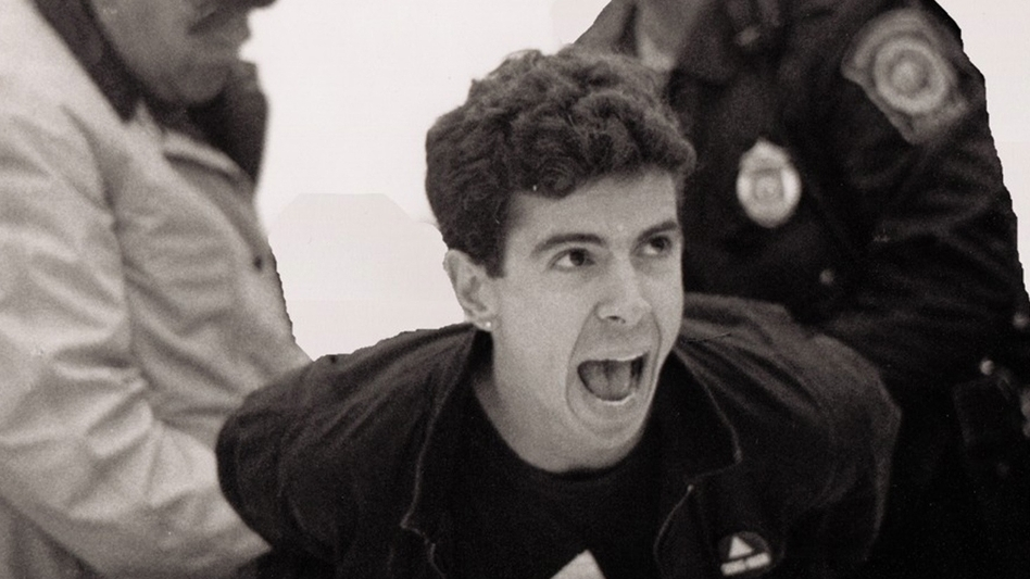 Director and producer David France chronicles the efforts of HIV/AIDS activists in the '80s and '90s in his documentary How to Survive a Plague. Above, AIDS activist Peter Staley is arrested in a scene from the film. (William Lucas Walker)