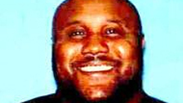 Christopher Jordan Dorner. He's the suspect in two murders and the shooting of three police officers, one of whom has died. A manhunt is under way in and around Los Angeles. (Irving Calif. Police Department)