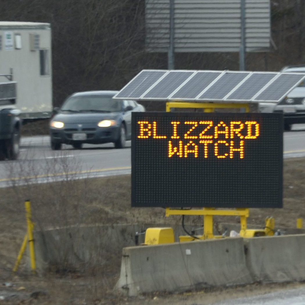 You've been warned: A sign along Interstate 495 in Franklin, Mass., on Thursday.