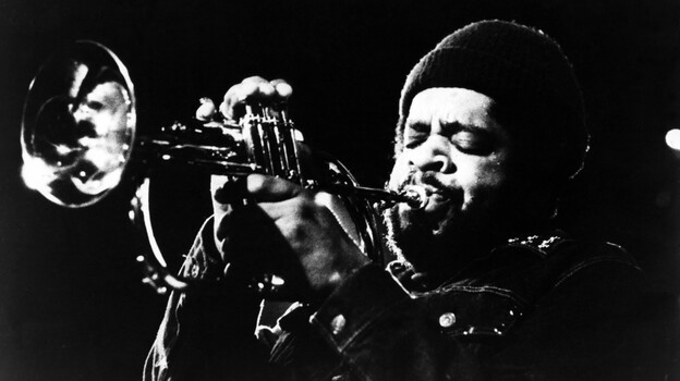 Donald Byrd onstage, in an image circulated by his record label at the time, Blue Note Records. (Getty Images)