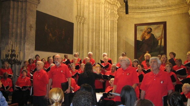 The New York City Labor Chorus performs in 2011 at the Basilica of Saint Francis of Assisi in Old Havana. (Courtesy of NYCLC)