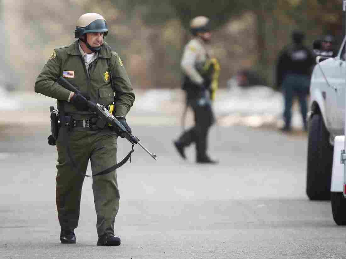 In Big Bear Lake, Calif., officers searched Thursday for suspect Christopher Jordan Dorner.
