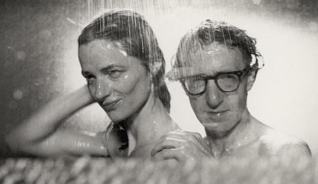 Charlotte Rampling and Woody Allen in his film <em>Stardust Memories</em>.