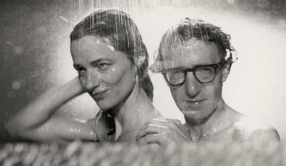 Charlotte Rampling and Woody Allen in his film <em>Stardust Memories</em>.