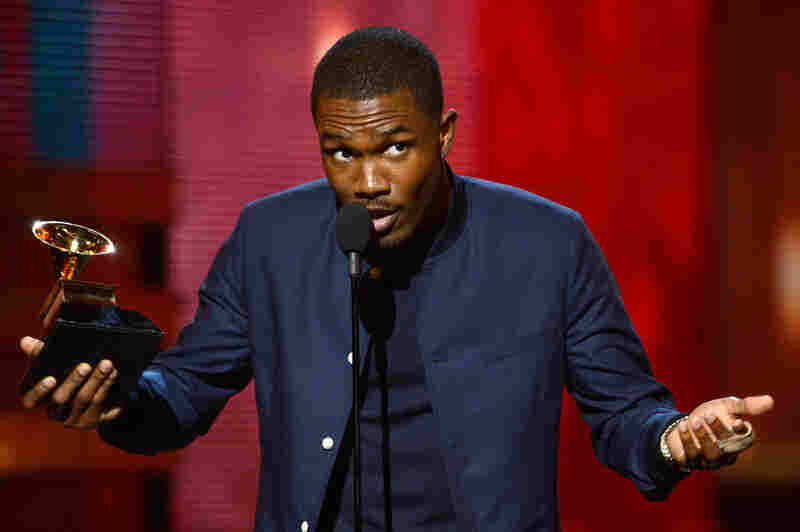 Singer Frank Ocean accepts Best Urban Contemporary Album award for Channel Orange.