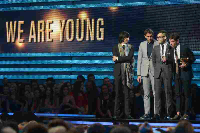 "The band fun. wins a Grammy for song of the year with ""We Are Young."" It also grab Best New Artist Sunday."