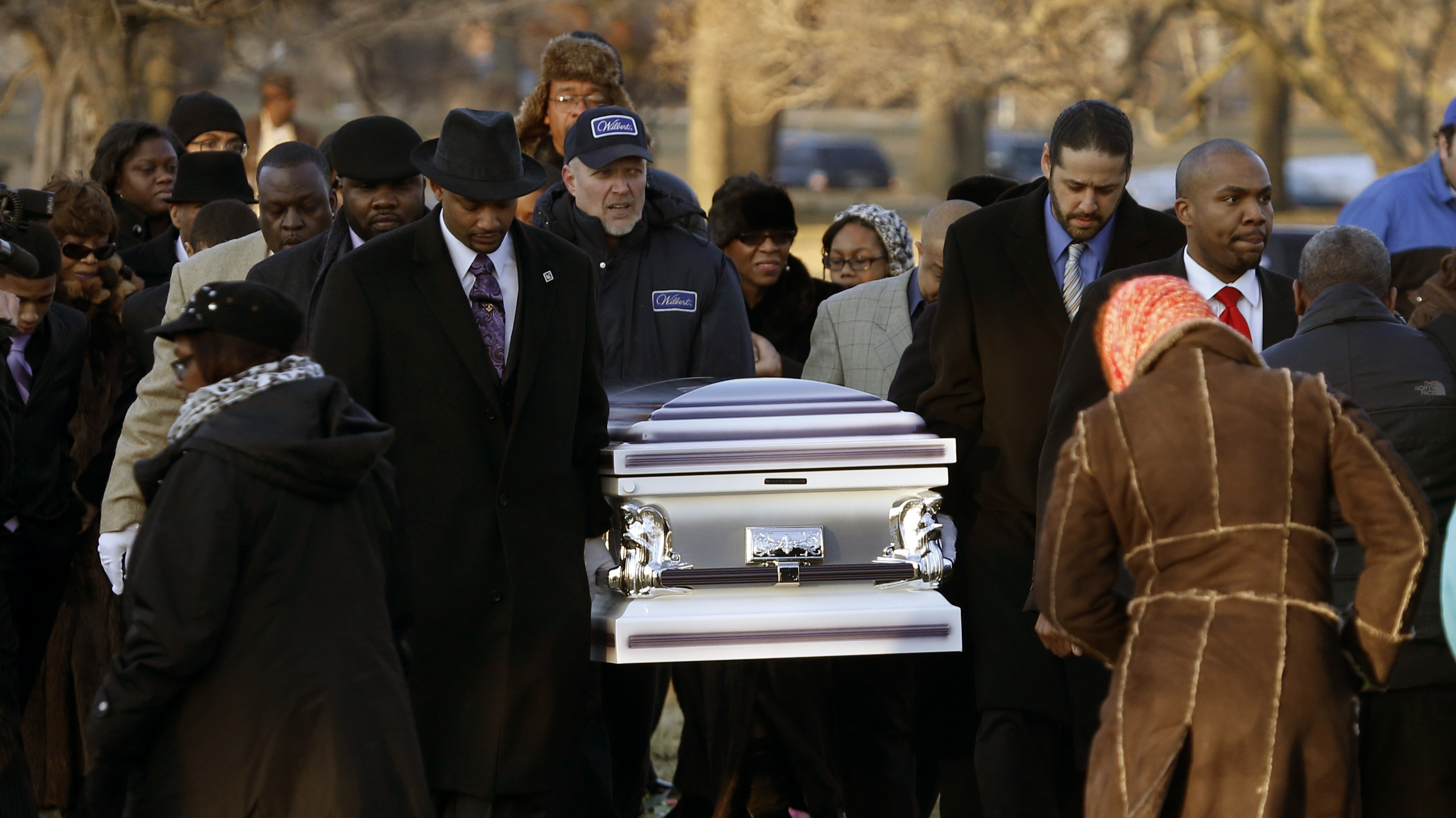 The remains of Hadiya Pendleton are taken to her final resting place ...