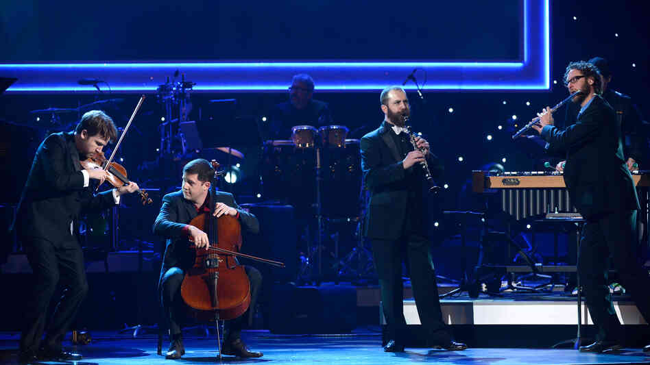 Members of eighth blackbird performing at the pre-telecast Grammy Awards Sunday.