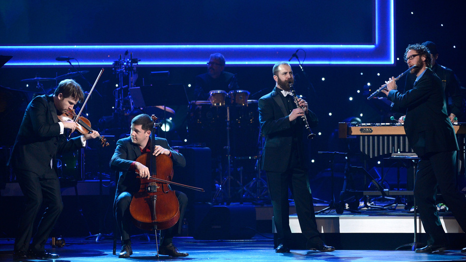 Members of eighth blackbird performing at the pre-telecast Grammy Awards Sunday. (Getty Images)