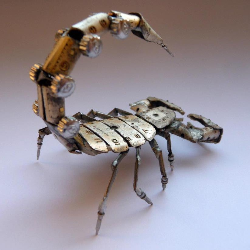A mechanical scorpion.