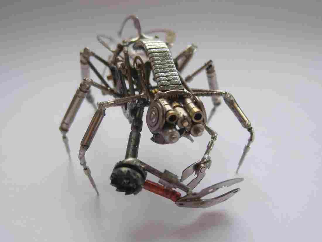 Mechanical buglike creature.