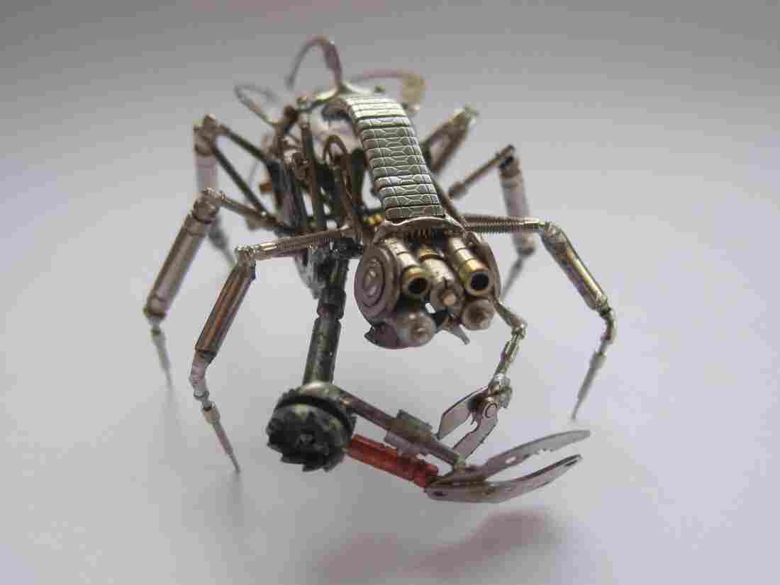 Mechanical buglike creature.