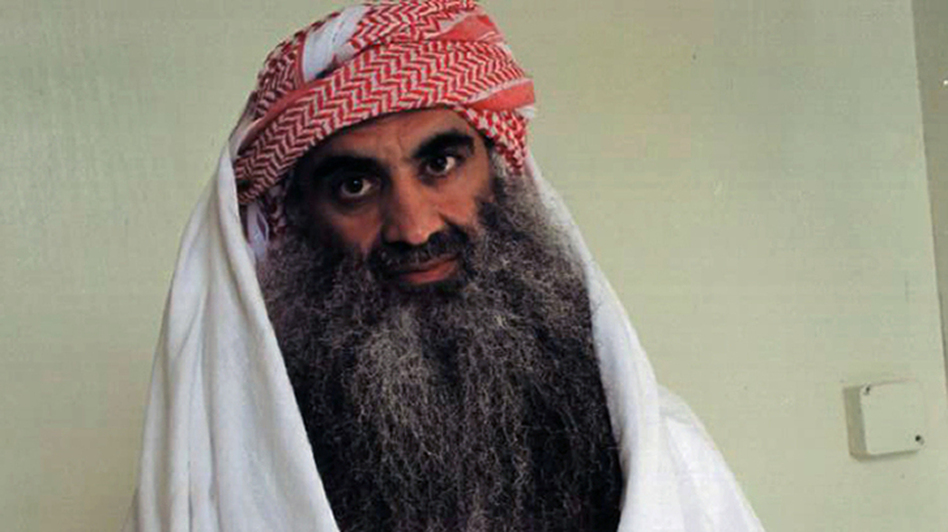 Khalid Sheikh Mohammed, seen in a file photo, and four other defendants accused of the Sept. 11 terrorist attacks appeared before a military commission in Guantanamo Bay, Cuba, on Monday. The session focused on procedural matters. (AFP/Getty Images)