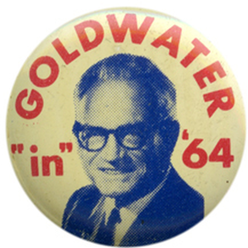 Goldwater's victory at the 1964 convention was a huge win for the party's conservatives. (Ken Rudin collection )