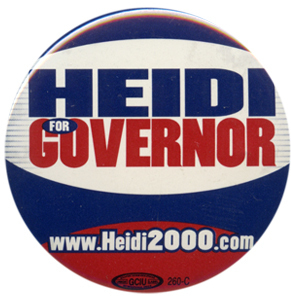 Heitkamp lost to John Hoeven, her fellow North Dakota senator, in the 2000 gov. race
