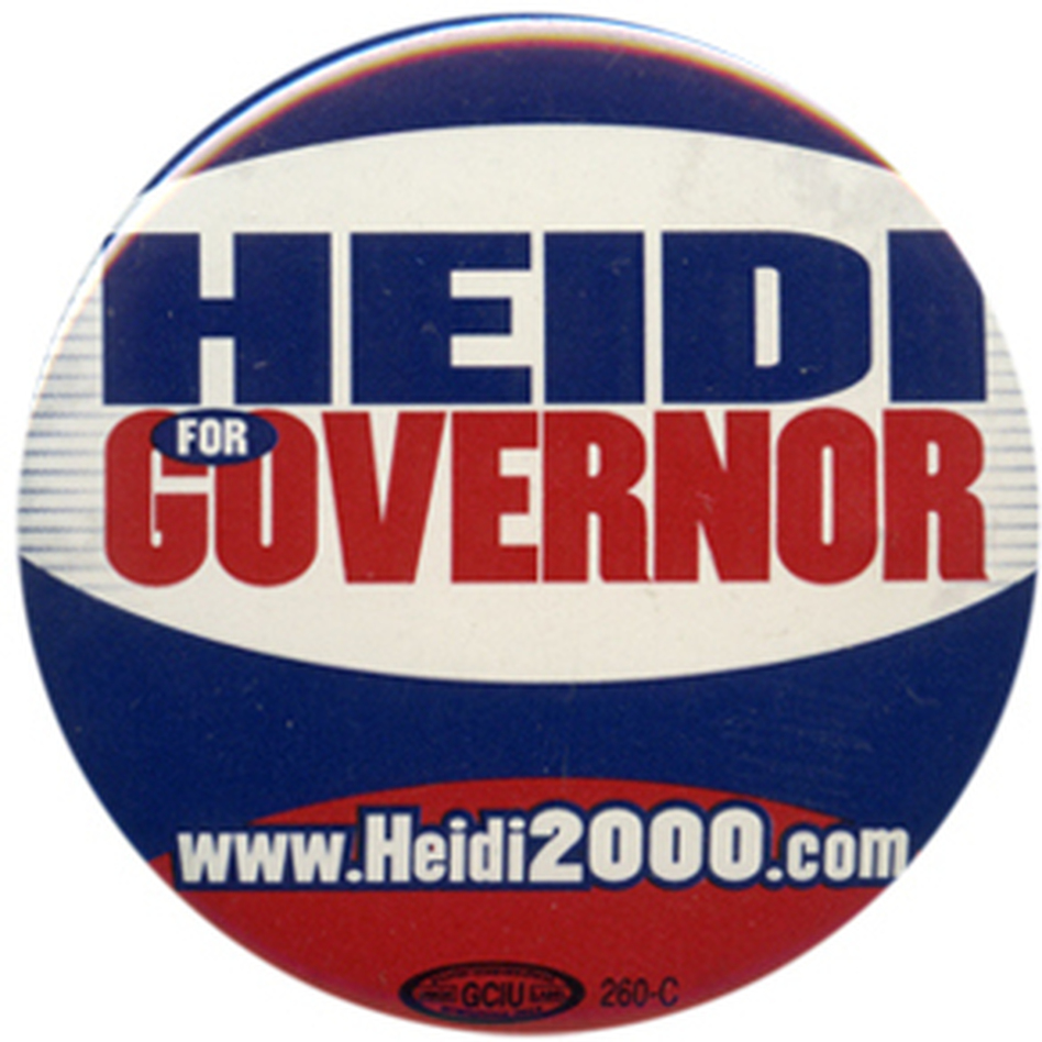 Heitkamp lost to John Hoeven, her fellow North Dakota senator, in the 2000 gov. race (Ken Rudin collection )