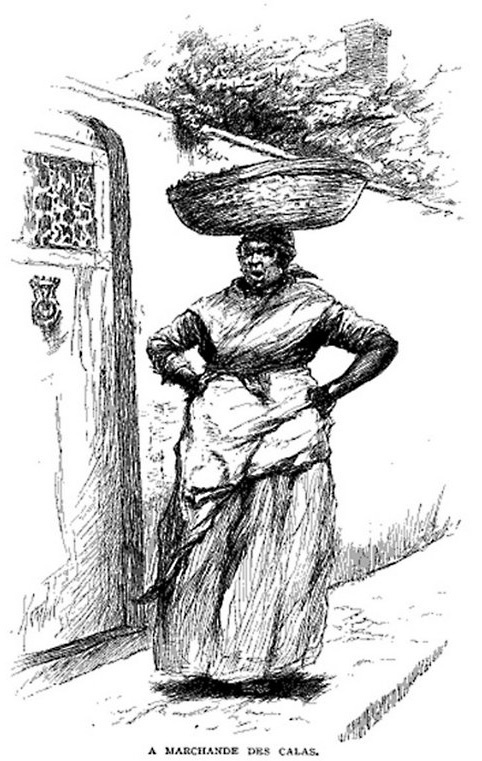 An illustration of a classic Calas Vendor from a 1886 edition of Century Magazine