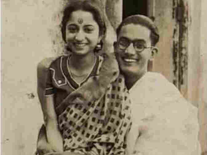 Newlyweds Debika and Ranjit Ghosh share a romantic moment in 1941.