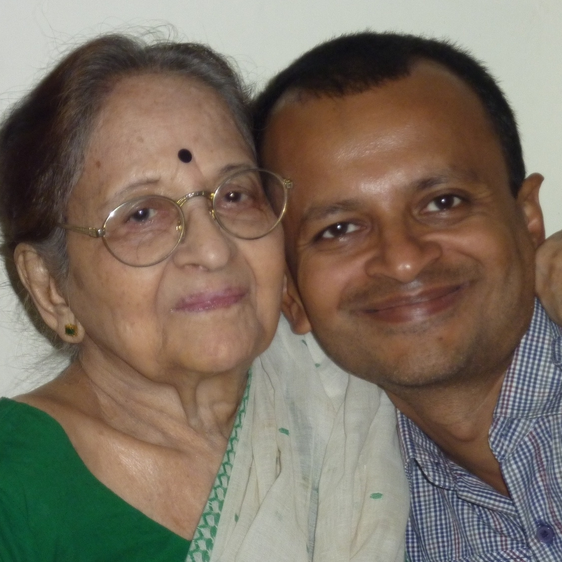 Sandip Roy and his great-aunt, Debika Ghosh, took this picture after she told him about her great romantic escapade.