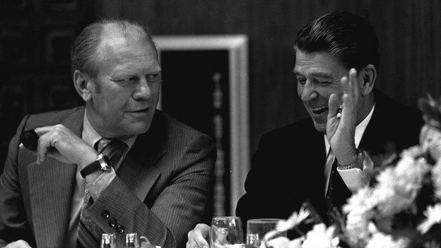 Moderates triumphed at the '76 convention but their candidate, Ronald Reagan, lost the general election in the fall, (AP)