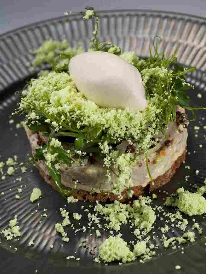 Reykjavik-based Dill Restaurant offers up new Nordic cuisine: herring ice cream on salad and rye.