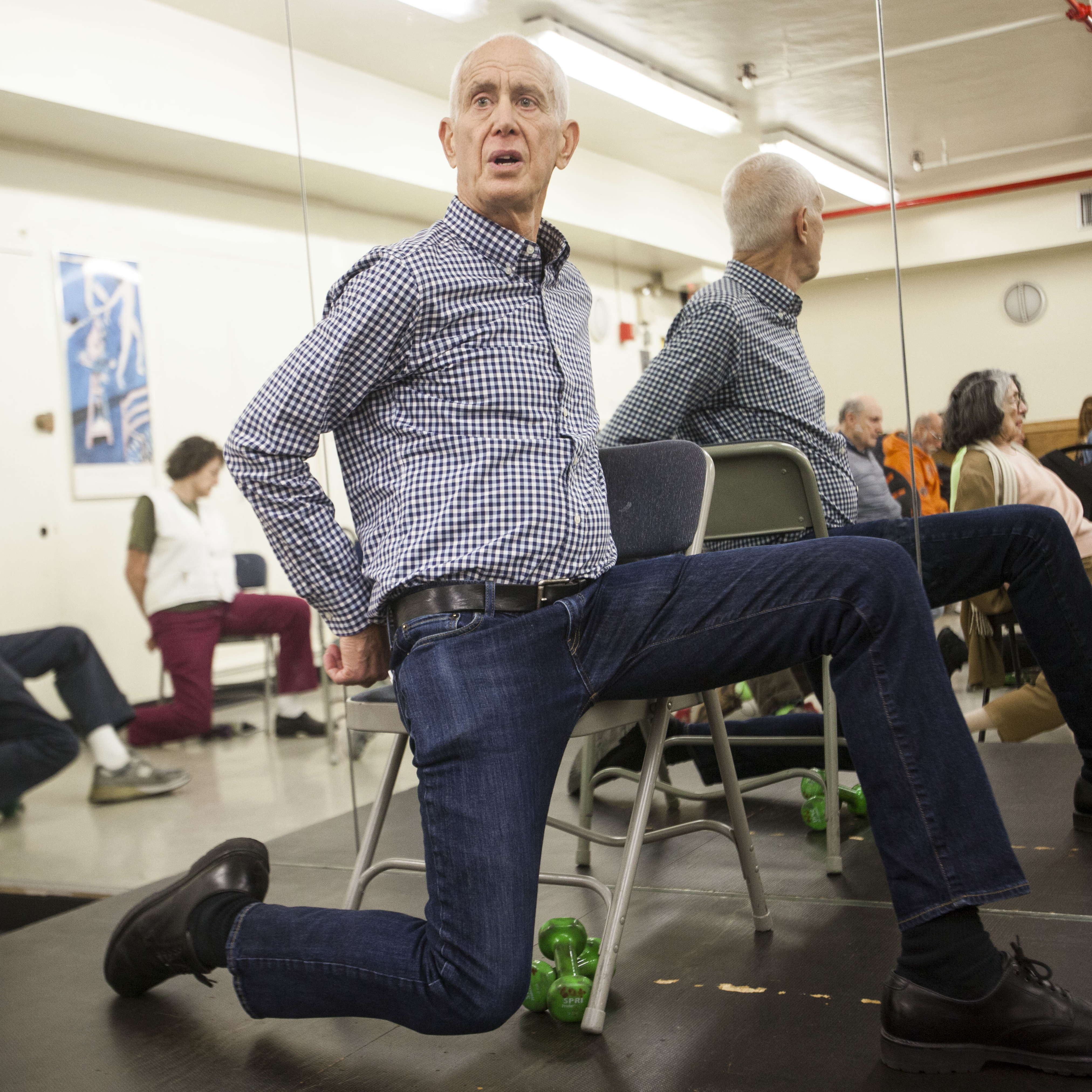 John David, 73, teaches an exercise class called PACE to seniors at the 92nd Street Y in New York City. The former TV producer says he has finally found his true calling.