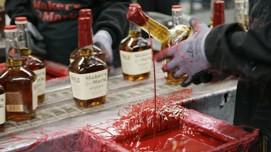 With too little distilled bourbon to meet demand, Maker's Mark is lowering the product's alcohol content from 90 to 84 proof. (AP)