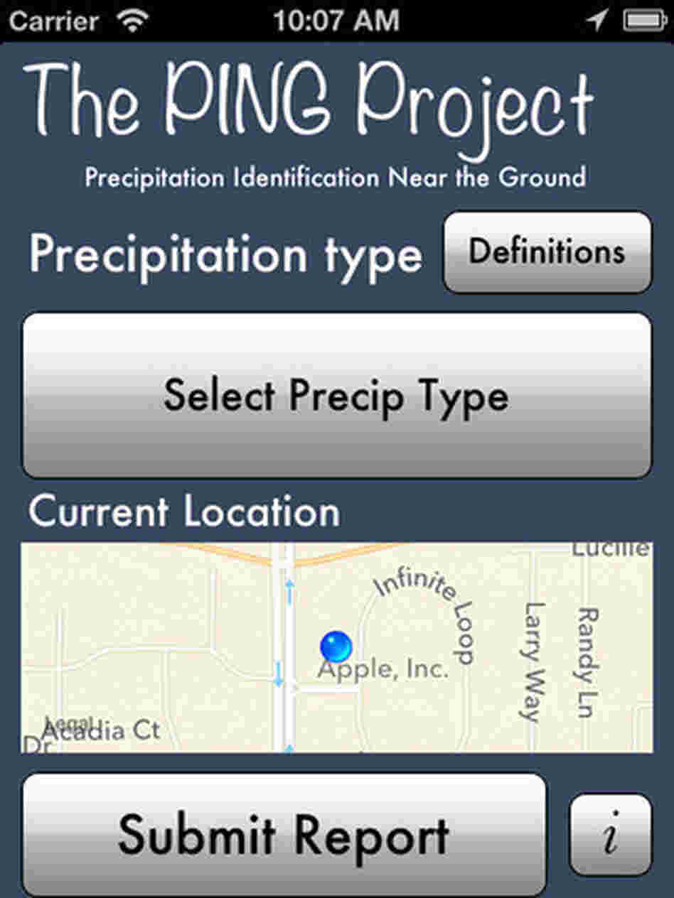 The National Oceanic and Atmospheric Administration and the University of Oklahoma's new mPING app helps forecasters capture a better description of falling precipitation.