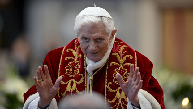 Pope Benedict XVI, on Saturday at the Vatican. (AFP/Getty Images)