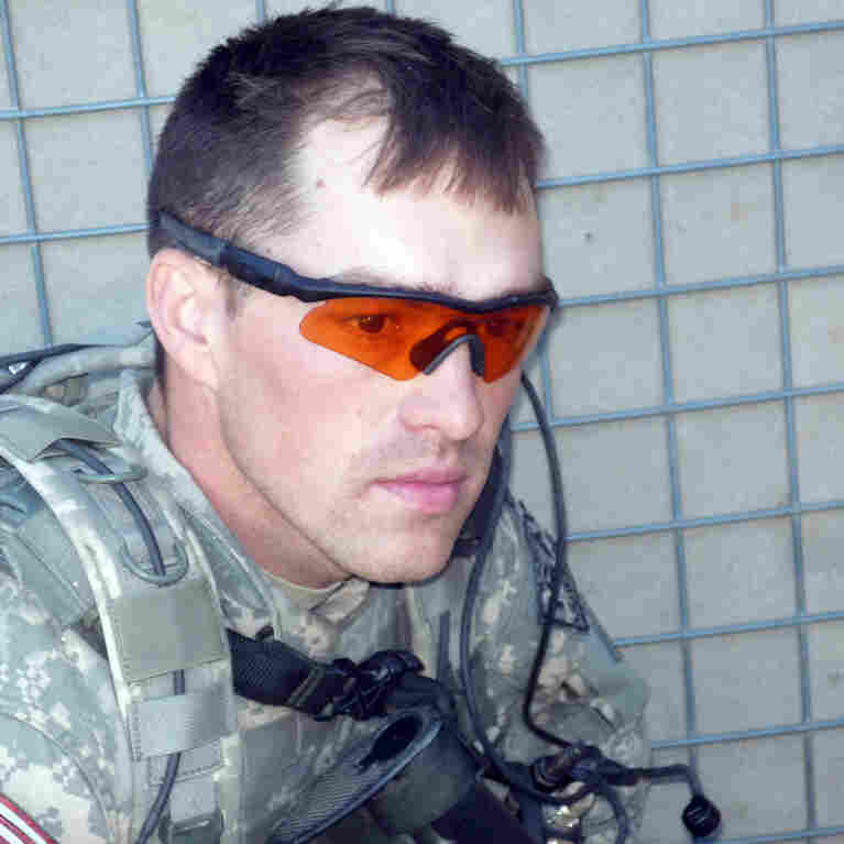 Former Army Staff Sgt. Clinton Romesha when he was on duty in Afghanistan.
