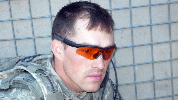 Former Army Staff Sgt. Clinton Romesha when he was on duty in Afghanistan. (North Dakota National Guard)