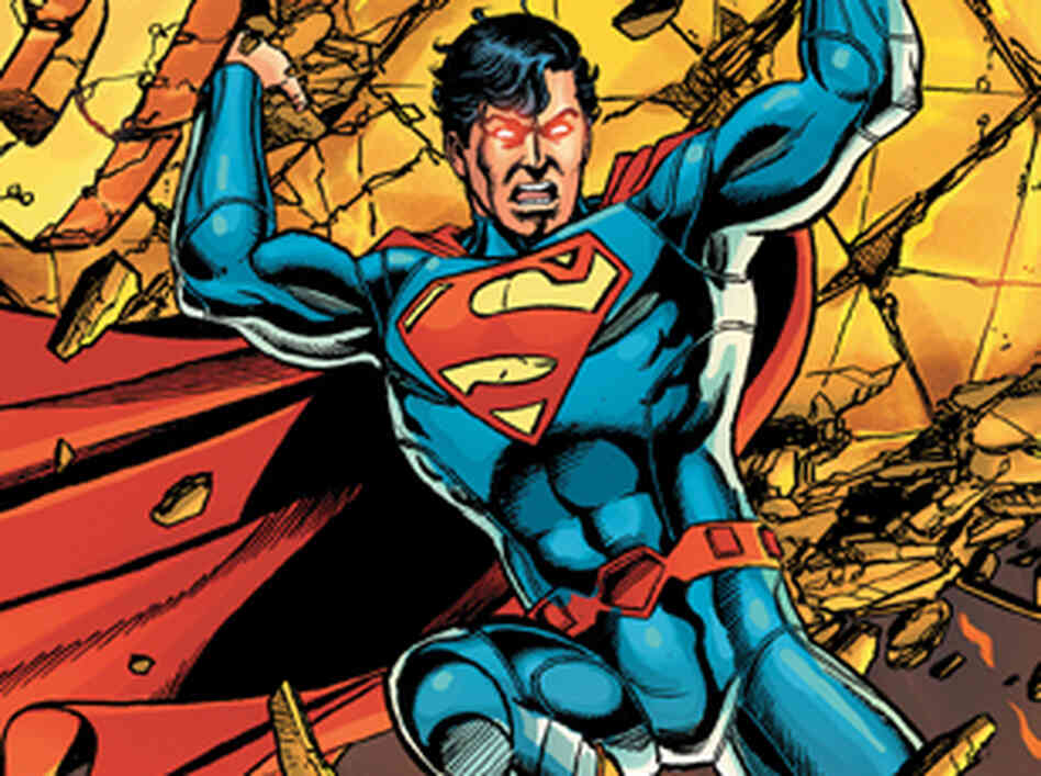 An image from the cover of the first issue of Superman.