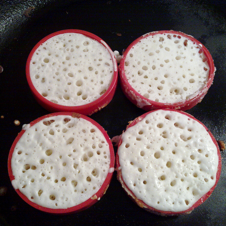 Bubbles in cooking dough gross out some trypophobes. But seriously, don't these homemade crumpets look yummy?