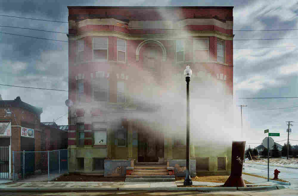 "An image from ""Detroit Disassembled,"" an exhibit on display at the National Building Museum. (Andrew Moore, The Aurora, Brush Park neighborhood, 2008)"