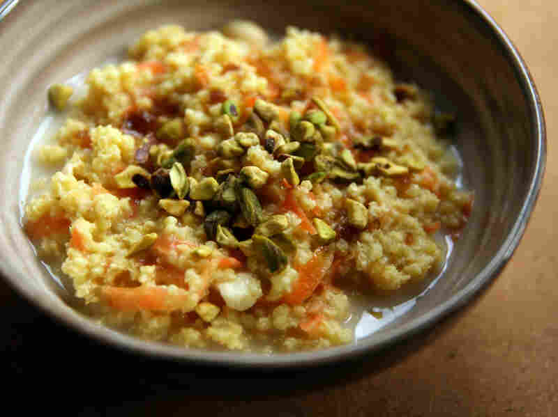 Saffron-Scented Millet Porridge