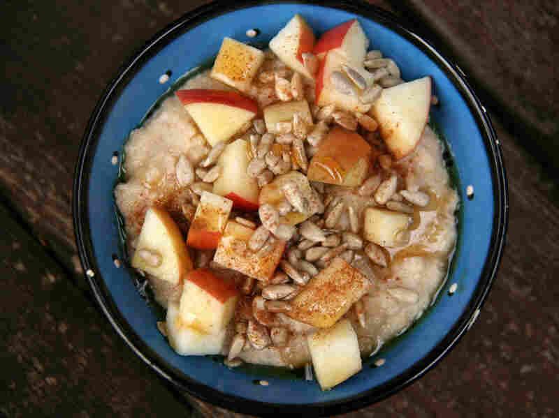 Sunflower Apple Oat Bran Porridge