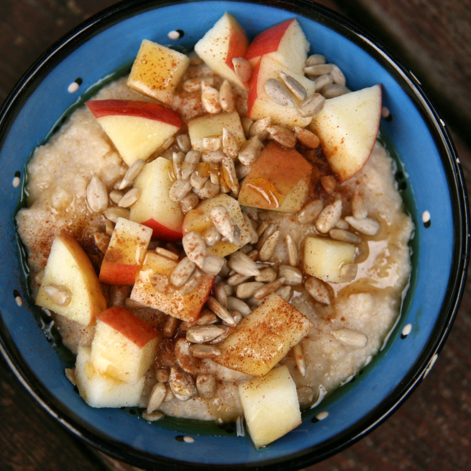 Sunflower Apple Oat Bran Porridge
