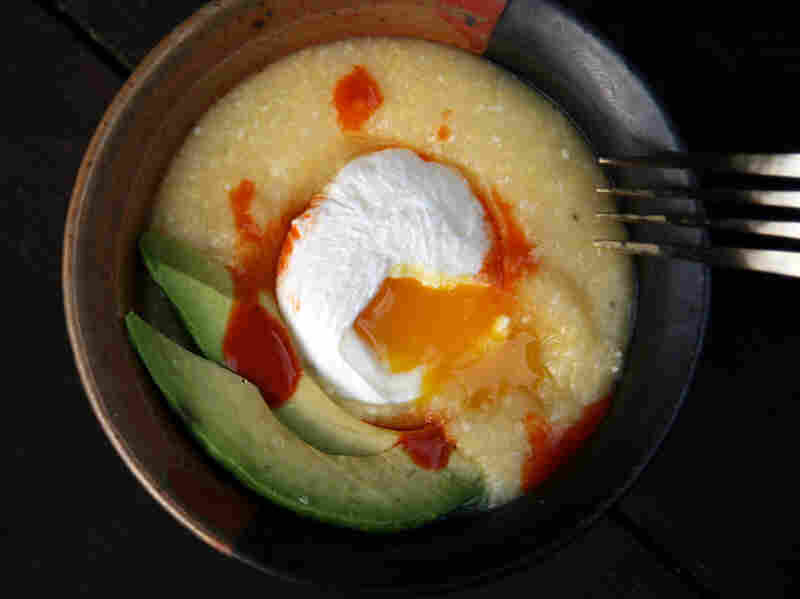 Savory Polenta Porridge With Poached Egg