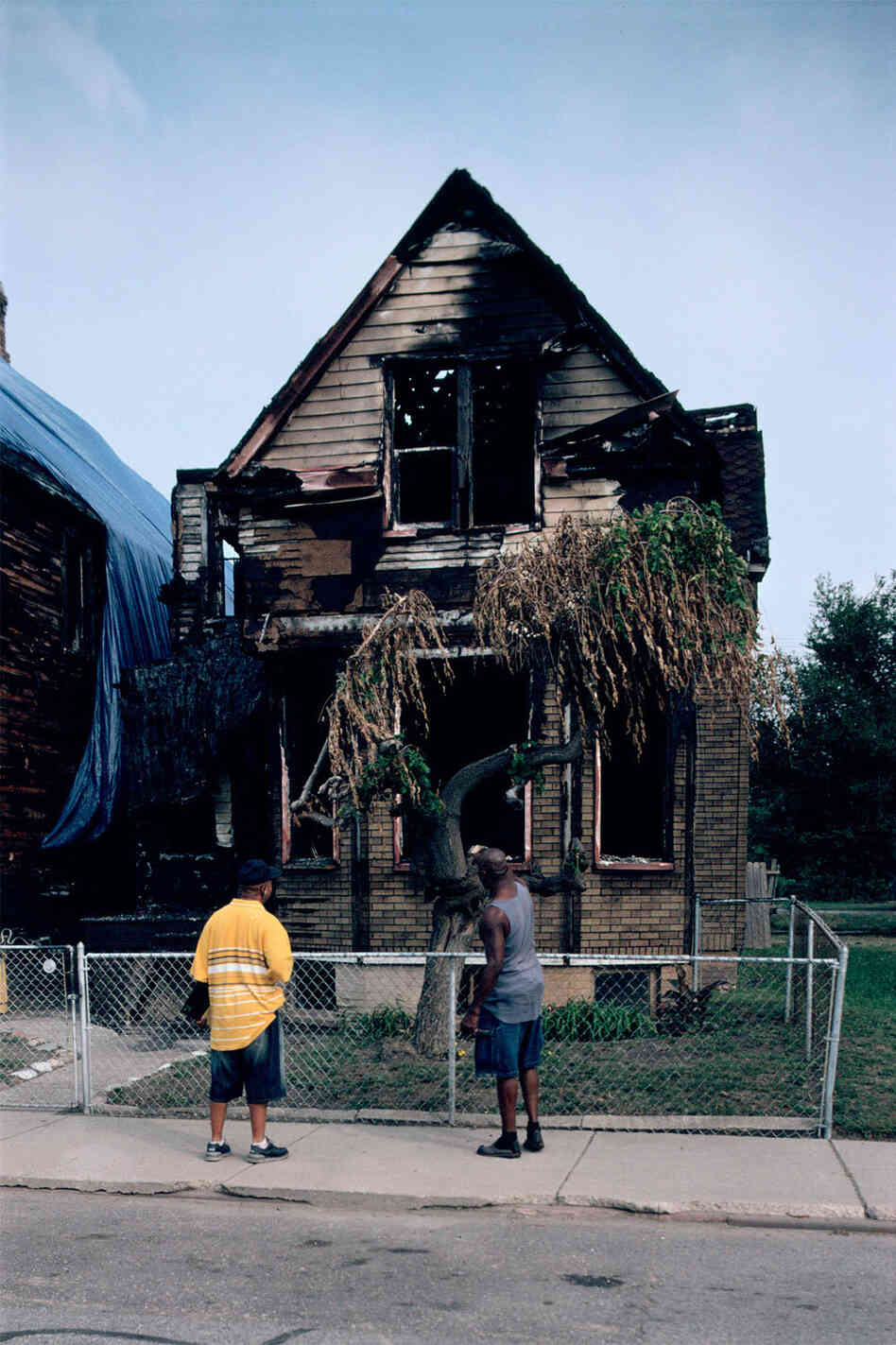 "An image from the ""Detroit Is No Dry Bones"" exhibit at the National Building Museum. (Camilo José Vergara, 3497 Mack Avenue, Detroit, 2007)"