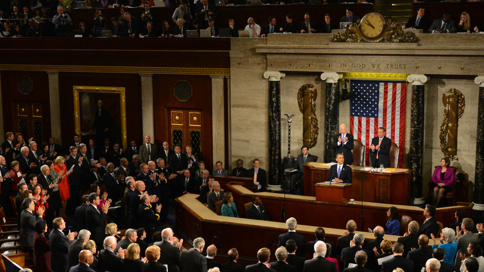 President Obama delivers his State of the Union address Tuesday night to a joint session of Congress. (UPI/Landov)