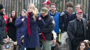 Daryl Hannah is handcuffed and arrested during the Keystone XL Pipeline Protest at Lafayette Park in Washington on Wednesday.