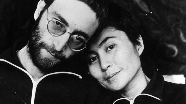John Lennon and his wife, Yoko Ono, pictured above in January 1970, are the subjects of Jonathan Cott's new book Days That I'll Remember. Cott met Lennon in 1968 and was friends with the couple. (Getty Images)