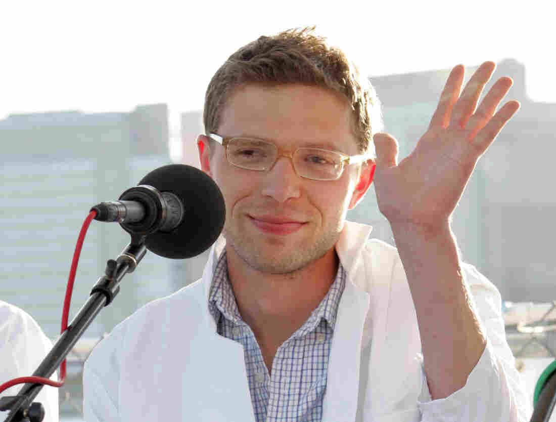 Jonah Lehrer attends a panel discussion for t