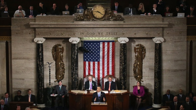 President Obama delivers his State of the Union address Tuesday night to a joint session of Congress. (Getty Images)