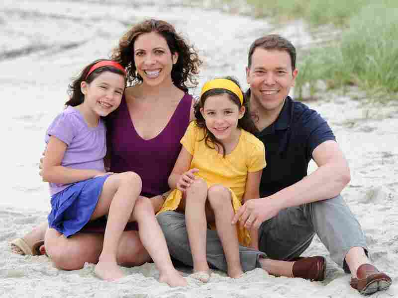 Bruce Feiler and his family; daughters Tybee and Eden Feiler, and wife Linda Rottenberg. Feiler is a New York Times columnist and the author of several books, including The Council of Dads and Walking the Bible.